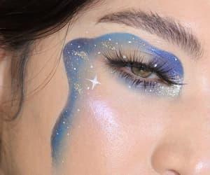 eye, makeup, and blue image