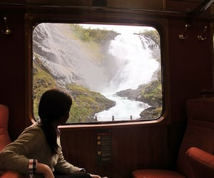 travel, nature, and train image