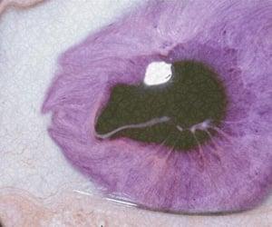 purple, eye, and grunge image