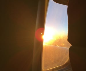 airplane, calm, and cold image