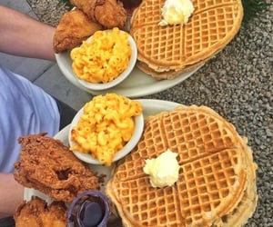 Chicken, food, and waffles image
