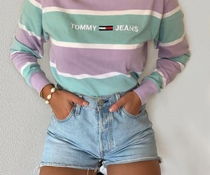 blonde, casual, and high waisted shorts image
