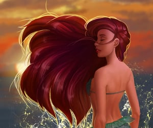 ariel, little mermaid, and cute image