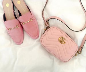 bag, fashion, and pink shoes image