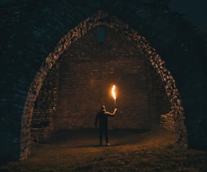 fire, night, and fantasy image