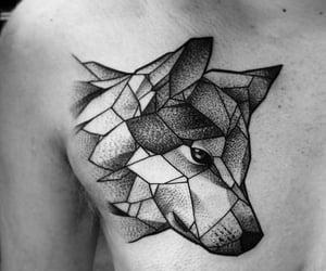 tatouage, tattoo, and loup image