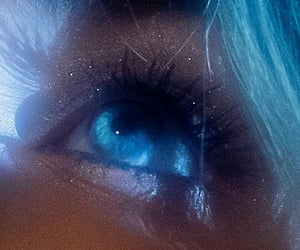 sabrina carpenter, blue, and blue eyes image