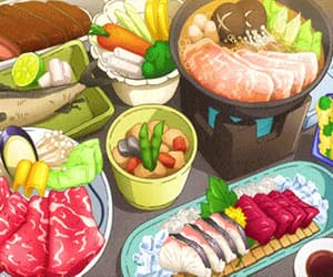delicious, anime food, and fish image