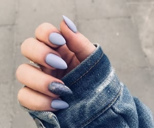 nails, blue, and beautiful image