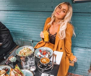 blonde, angelica blick, and breakfast image