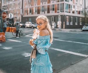 blonde, dress, and style image