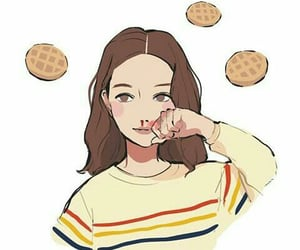 drawing, eleven, and eggos image