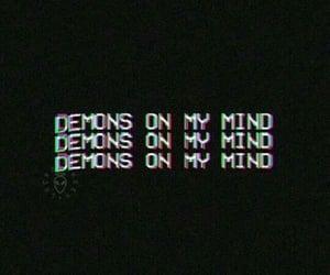 demon, black, and mind image