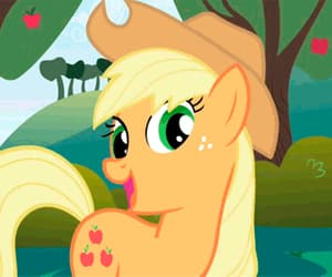 gif, wink, and my little pony image
