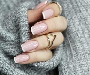 nailpolish, nails, and ring image