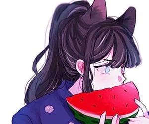 anime girl, romance, and couple image