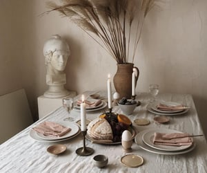 breakfast, candles, and dinner image