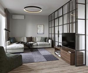 interior, living room, and sofa image