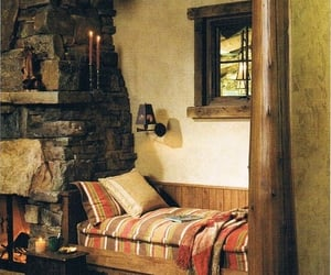 fireplace, home, and pillow image