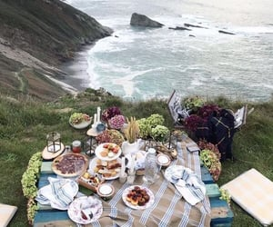 picnic, beach, and food image