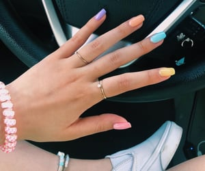 nails, aesthetic, and car image