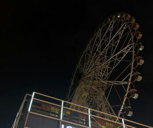 dark, aesthetic, and ferris wheel image