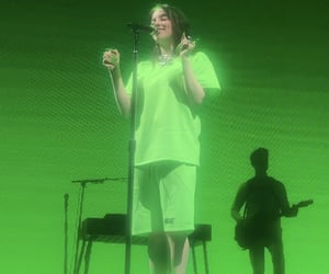 concerts, green, and neon image