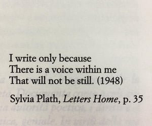literature, quote, and sylvia plath image
