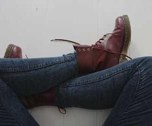 grunge, boots, and jeans image