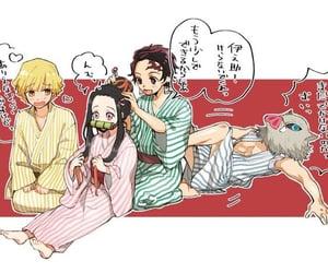 anime girl, demon slayer, and kimetsu no yaiba image