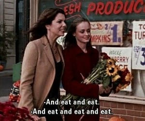 eat, gilmore girls, and food image
