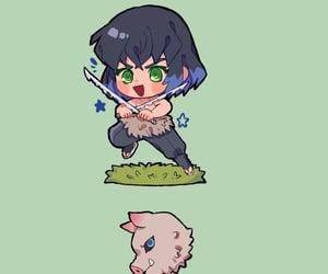 chibi, anime boy, and demon slayer image