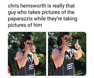 funny, thor, and chris hemsworth image