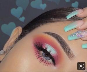 make, makeup, and nails image