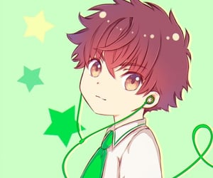 anime girl, card captor sakura, and stars image
