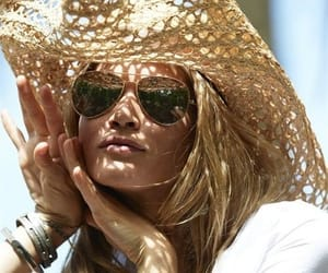 summer, sunglasses, and hat image