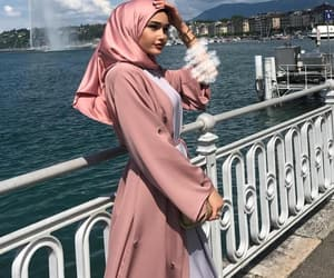 hijab, muslim, and pink image