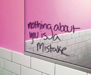 mirror, mistake, and pink image