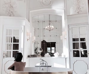 bath, brunette, and home image