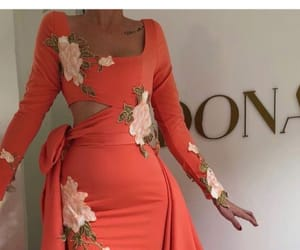 dress, fashion, and floral dress image