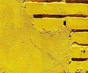 yellow, wall, and aesthetic image