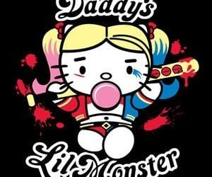 harley quinn, hello kitty, and suicide squad image