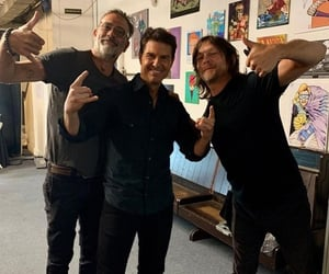 jeffrey dean morgan, the walking dead, and norman reedus image
