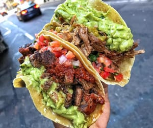 food, tacos, and carne image
