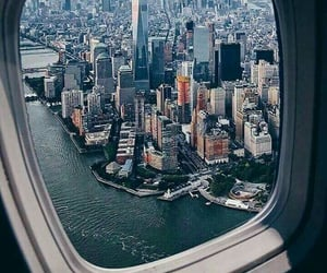 fly, new york, and travel image