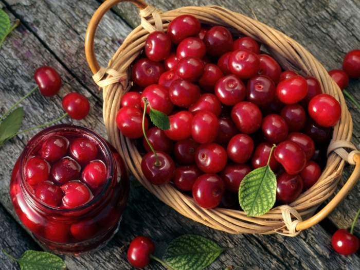 cherries, food, and fruit image