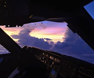 sky, fly, and plane image