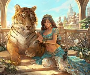 aladdin, jasmine, and princess image