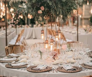 decorations, dining, and dinner image