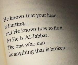 allah, heart, and broken image